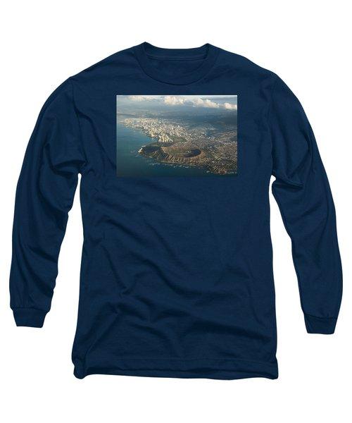 Long Sleeve T-Shirt featuring the photograph Above Hawaii by Georgia Mizuleva