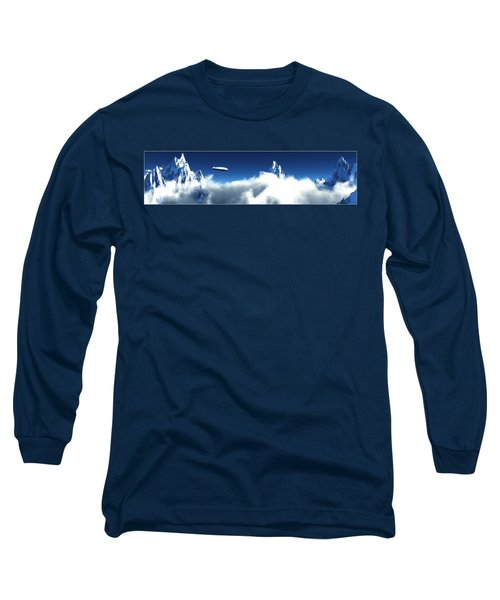Long Sleeve T-Shirt featuring the digital art Above The Clouds... by Tim Fillingim