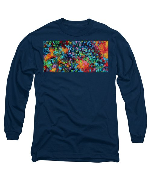 Abstract Art Bold Colorful Modern Art Original Painting Color Blast By Madart Long Sleeve T-Shirt