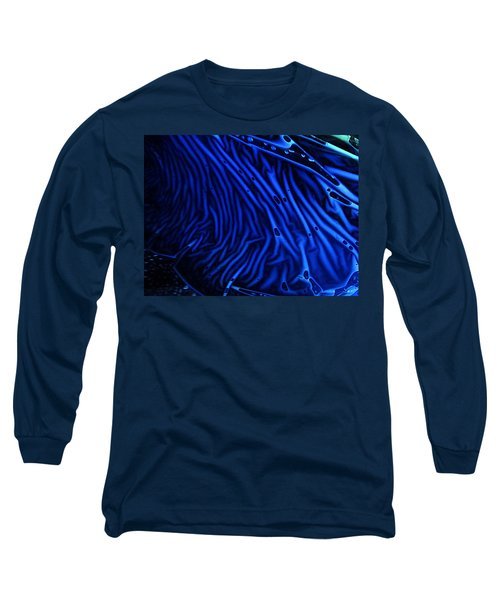 Abstract Experimental Chemiluminescent Photography Blue 1 Long Sleeve T-Shirt