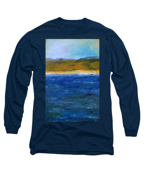Abstract Shoreline Long Sleeve T-Shirt
