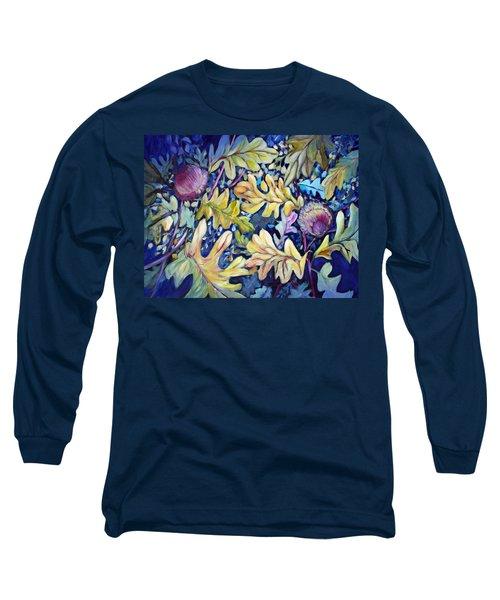 Acorns And Oak Leaves Long Sleeve T-Shirt