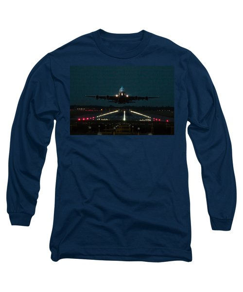 Airbus A380 Take-off At Dusk Long Sleeve T-Shirt