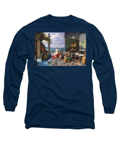 Allegory Of Music Oil On Canvas Long Sleeve T-Shirt