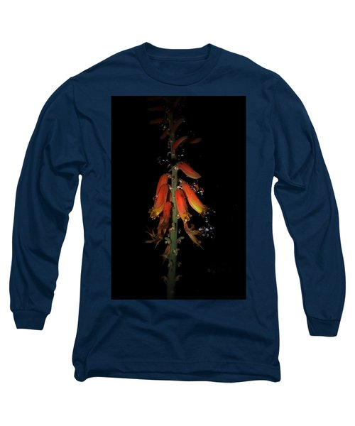 Long Sleeve T-Shirt featuring the photograph Aloe Flower by Leticia Latocki