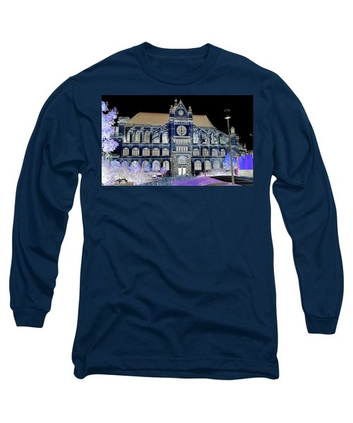 Altered Image Of Saint Eustache In Paris France Long Sleeve T-Shirt by Richard Rosenshein