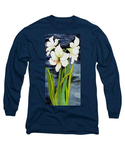 Amaryllis Against A Night Sky Long Sleeve T-Shirt