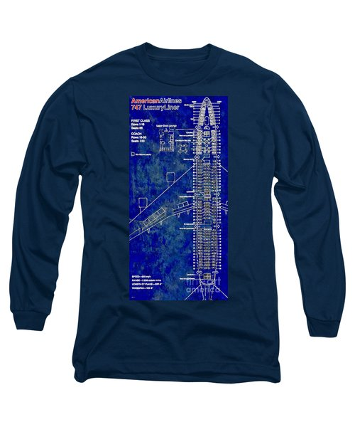 American Airlines 747 Long Sleeve T-Shirt by Daniel Janda