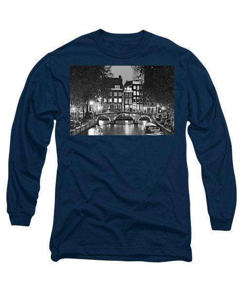 Amsterdam Bridge At Night / Amsterdam Long Sleeve T-Shirt