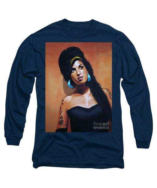 Amy Winehouse Long Sleeve T-Shirt by Paul Meijering