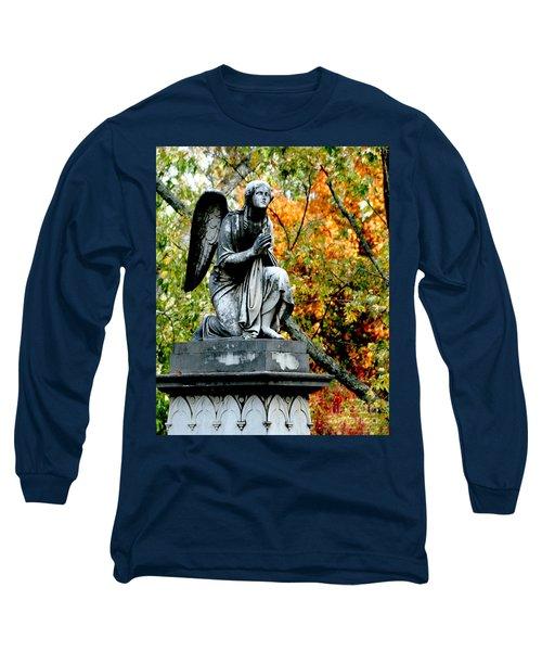 Long Sleeve T-Shirt featuring the photograph An Angels' Prayer by Lesa Fine