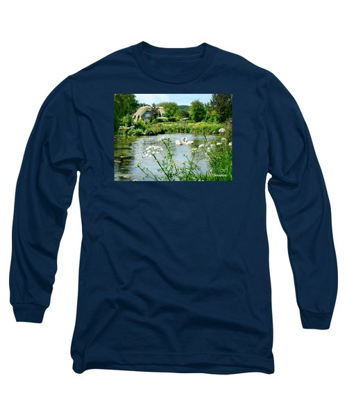 An English Cottage Long Sleeve T-Shirt