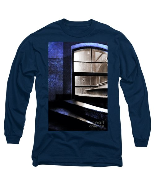 An Old Stairs And The Broken Window Long Sleeve T-Shirt