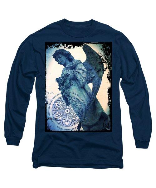 Angel Of Peace - Art Nouveau Long Sleeve T-Shirt by Absinthe Art By Michelle LeAnn Scott