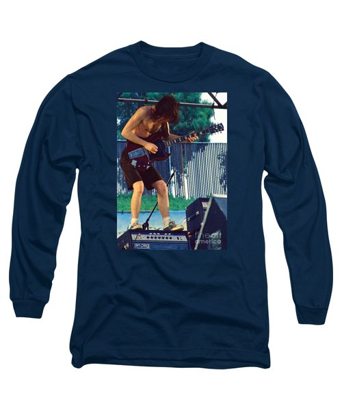 Angus Young Of A C D C At Day On The Green Monsters Of Rock Long Sleeve T-Shirt