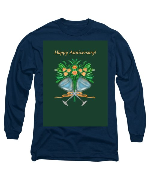 Long Sleeve T-Shirt featuring the digital art Anniversary Bouquet by Christine Fournier
