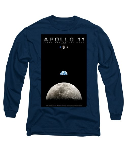 Apollo 11 First Man On The Moon Long Sleeve T-Shirt