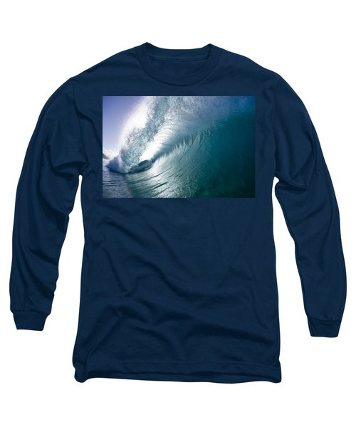 Aqua Curl Long Sleeve T-Shirt