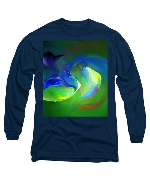 Long Sleeve T-Shirt featuring the digital art Aquatic Illusions by David Lane