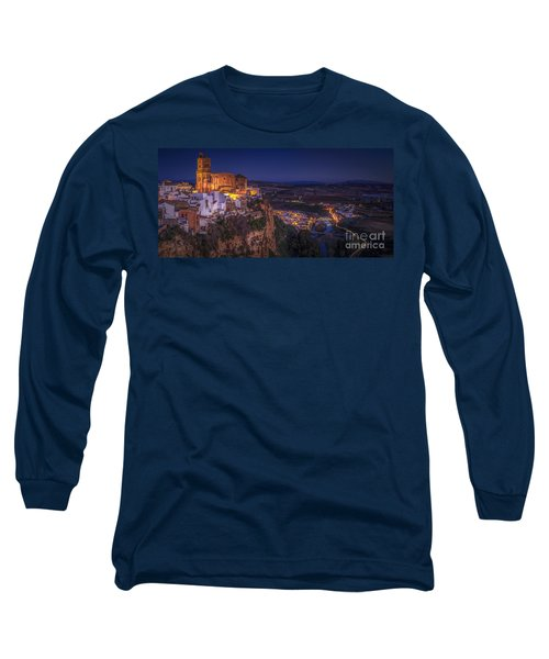Arcos De La Frontera Panorama From Balcon De La Pena Cadiz Spain Long Sleeve T-Shirt by Pablo Avanzini