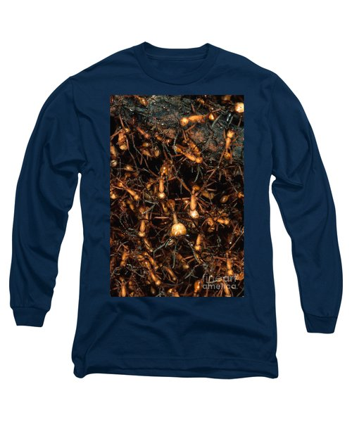 Army Ant Bivouac Site Long Sleeve T-Shirt by Gregory G. Dimijian, M.D.