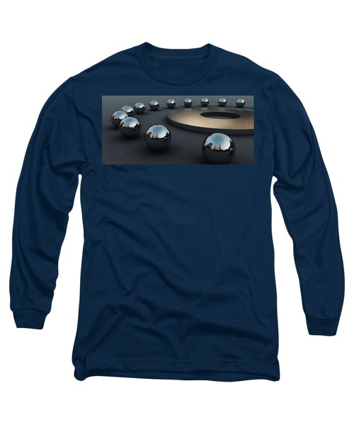 Long Sleeve T-Shirt featuring the digital art Around Circles by Richard Rizzo
