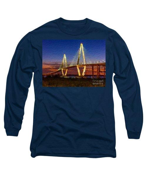 Arthur Ravenel Bridge At Evening  Long Sleeve T-Shirt