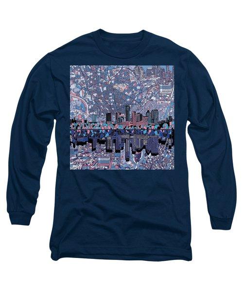Austin Texas Skyline 3 Long Sleeve T-Shirt