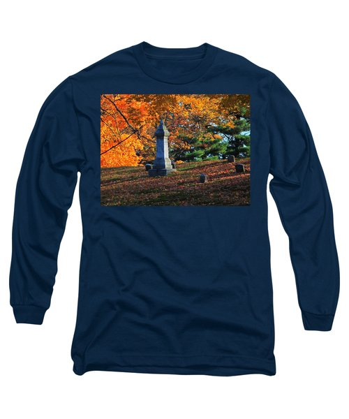 Autumn Cemetery Visit Long Sleeve T-Shirt