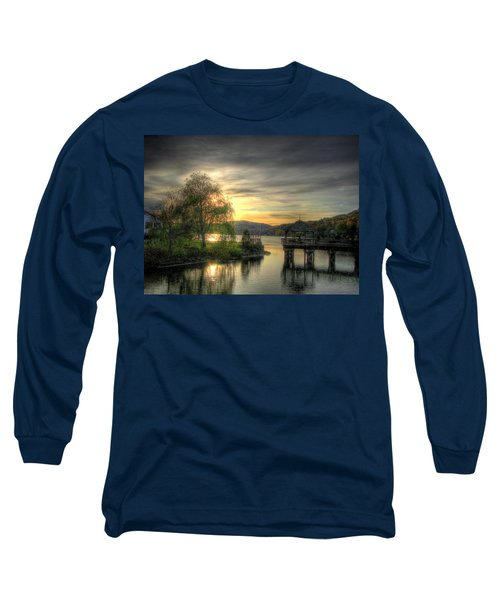 Long Sleeve T-Shirt featuring the photograph Autumn Sunset by Nicola Nobile
