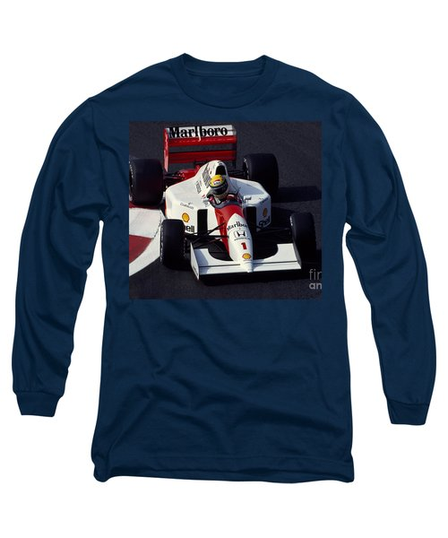 Ayrton Senna. 1992 French Grand Prix Long Sleeve T-Shirt