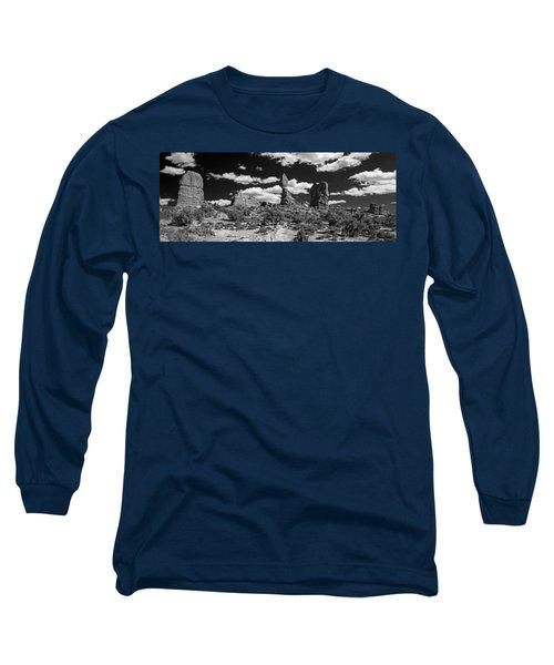Balanced Rock Long Sleeve T-Shirt by Larry Carr