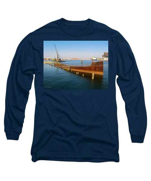 Long Sleeve T-Shirt featuring the photograph Baltimore Museum Of Industry by Brian Wallace