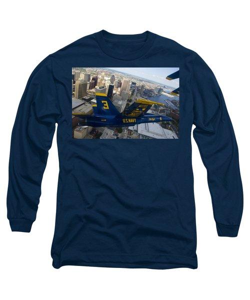 Banking Above Baltimore Long Sleeve T-Shirt