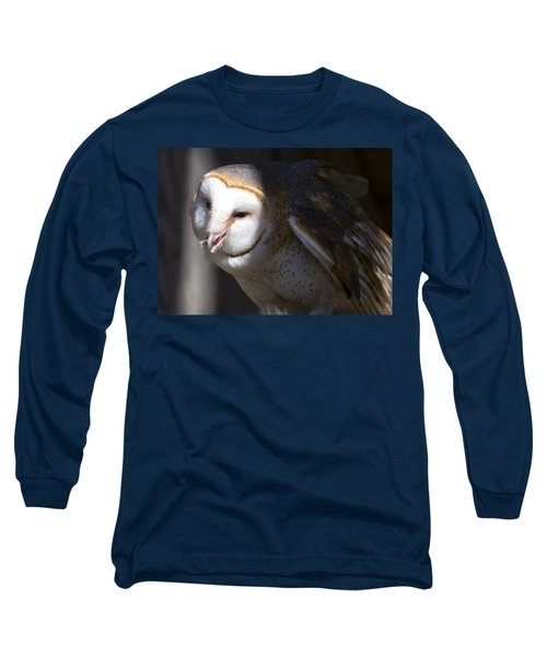 Barn Owl 1 Long Sleeve T-Shirt by Chris Flees