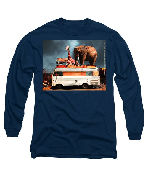 Barnum And Baileys Fabulous Road Trip Vacation Across The Usa Circa 2013 5d22705 With Text Long Sleeve T-Shirt