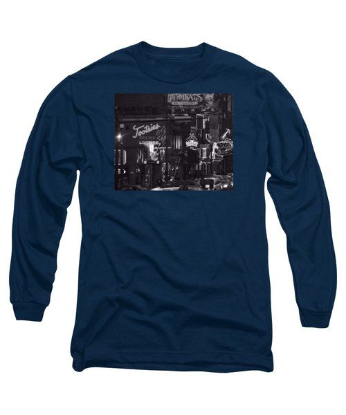 Bars On Broadway Nashville Long Sleeve T-Shirt by Dan Sproul
