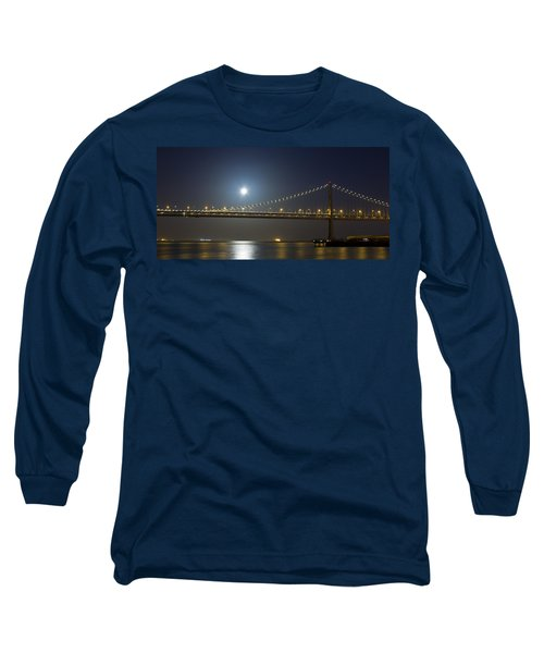 Bay Bridge Supermoon Long Sleeve T-Shirt