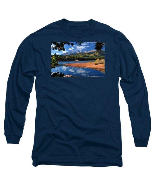 Beautiful Pikes Peak At Crystal  Long Sleeve T-Shirt by John Hoffman