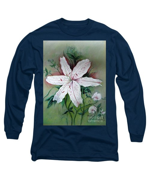 Long Sleeve T-Shirt featuring the painting Beauty For Ashes by Hazel Holland