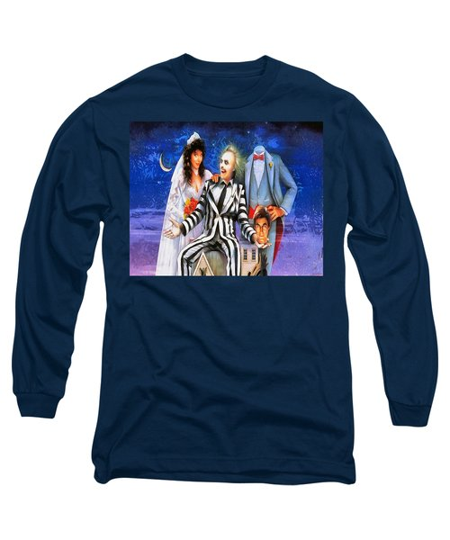 Beetlejuice Long Sleeve T-Shirt by Joe Misrasi