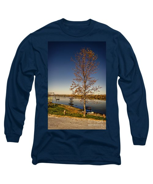 Lonely Friends - Bench And Tree Long Sleeve T-Shirt