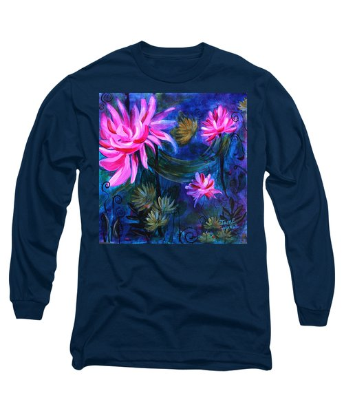 Beneath Dark Lotus Waters Long Sleeve T-Shirt