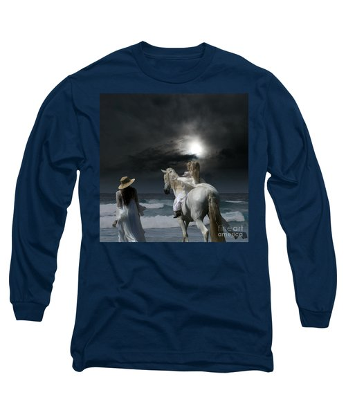 Beneath The Illusion In Colour Long Sleeve T-Shirt by Sharon Mau