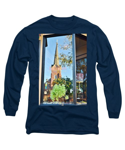 Biblion Used Books Reflections 3 - Lewes Delaware Long Sleeve T-Shirt