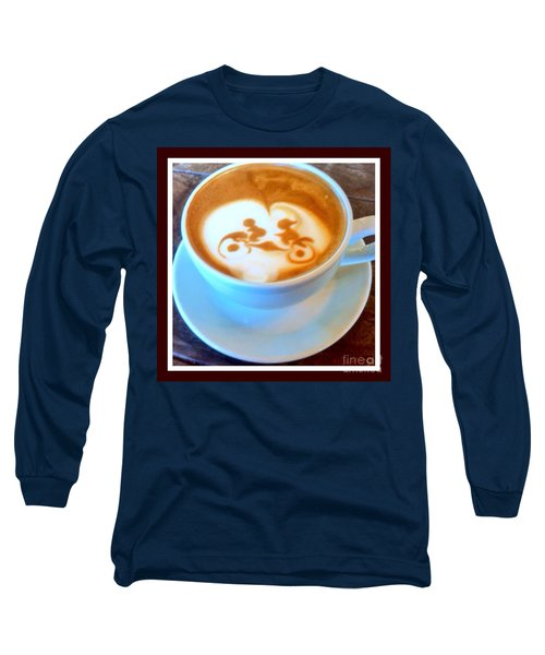 Bicycle Built For Two Latte Long Sleeve T-Shirt