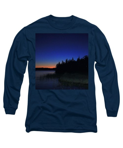 Black And Blue Sky Long Sleeve T-Shirt by Jason Lees