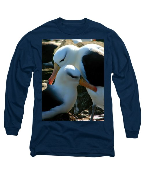 Black Browed Albatross Pair Long Sleeve T-Shirt by Amanda Stadther