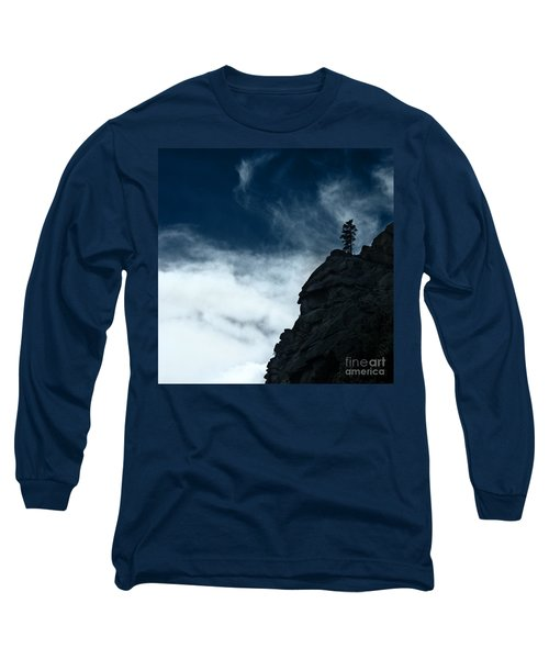 Long Sleeve T-Shirt featuring the photograph Black Cliff by Dana DiPasquale