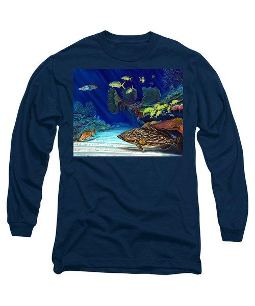 Black Grouper Reef Long Sleeve T-Shirt